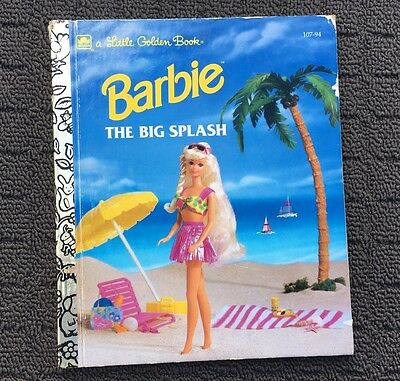 BARBIE THE BIG SPLASH Children's Story Book (1992) A Little Golden Book