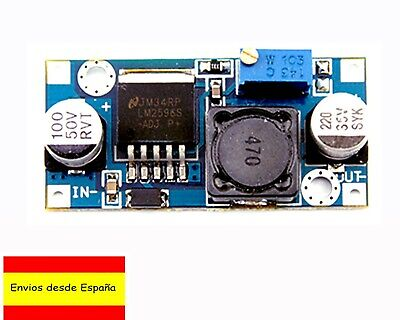 LM2596 Módulo Paso Abajo DC 3A 1,25-32V Step Down Regulable Fuente Arduino A0004