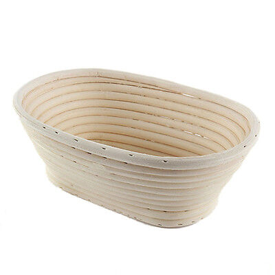 Home Rattan Basket Bread Oval Long Dough Proofing Handmade Cooking Tool
