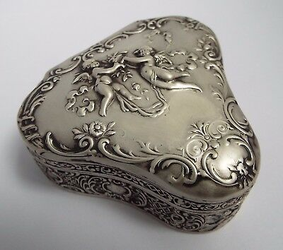Fab Large Heavy Antique Dutch German 1895 Solid Silver Table Box Berthold Muller