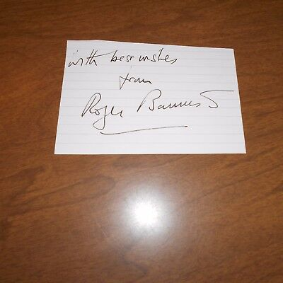 Sir Roger Bannister, English former middle-distance athlete Hand Signed Card