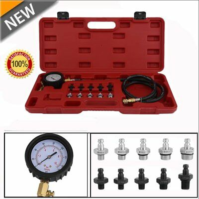 13PC Deluxe Automatic Transmission & Engine Oil Pressure Tester Case 140psi NEW