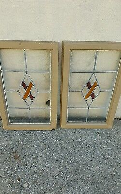 Vintage Stained Glass Window all original leaded glass from England --Best Offer