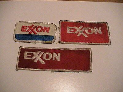 Lot /3 Exxon Gas Gasoline Oil Service Station Automobile Auto Car Patches Used