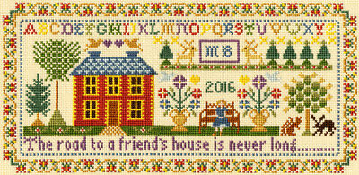 Bothy Threads Cross Stitch Kit - Friends House