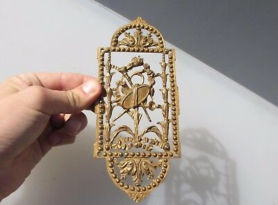 Victorian Brass Finger Plate Push Door Handle Theatre Opera Musical Antique Old