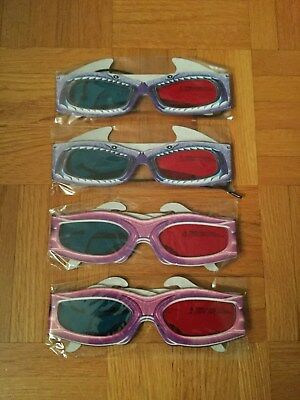 4x Pair of 3D Glasses for The Adventures of Sharkboy and Lavagirl in 3D Movie