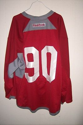 ARIZONA COYOTES Mason Kohn worn red #90 RBK practice jersey (2016 rookie camp)