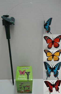 Brand New Solar Powered Fluttering/flying Butterfly,garden,etc. Free Shipping !