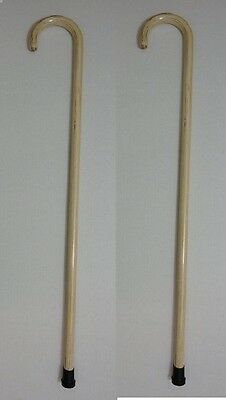 "2 New 36"" Wood Walking Canes,walking Sticks With Rubber Tips, Free Shipping !"