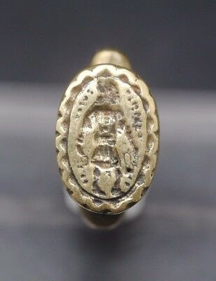 Antique Brass Seal Ring