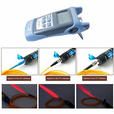 5Km Fiber Optic Test Instrument+Locator Pen Proofread Function 7 Wavelengths MT