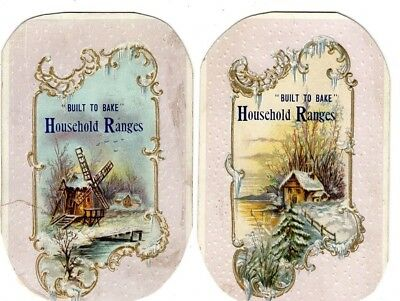1800's Victorian - House Hold Ranges Trade Card Lot - Scrapbook Ephemera