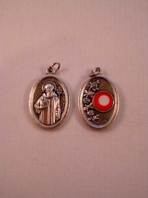 St Benedict ~ Medal with Relic ~ Pack of Two