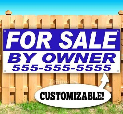 FOR SALE BY OWNER Advertising Vinyl Banner Flag Sign Many Sizes USA