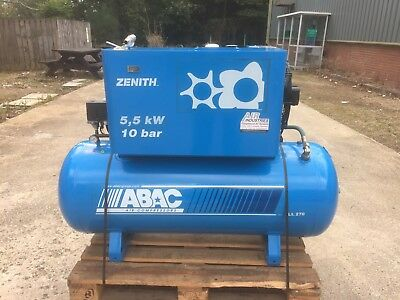 ABAC Zenith 7.5 Heavy Duty Rotary Screw Compressor 415v 3 Phase mint!