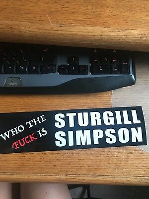 Sturgill Simpson bumber sticker