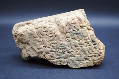 Extremely Rare Early Form Of Writing On A Clay Tablet.