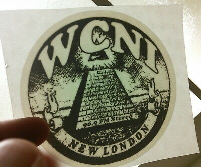 WCNI freeform radio station window cling 90.9 FM New London, CT Connecticut