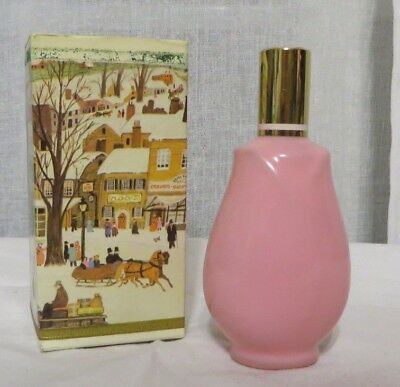 Vintage Avon 60s Mist of Roses Cologne Tulip Bottle w Box MOD NOS Pretty Pink