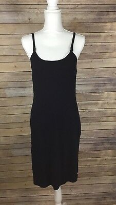 Glamourmom Nursing Bra Tank Dress Black Women's Size Medium M