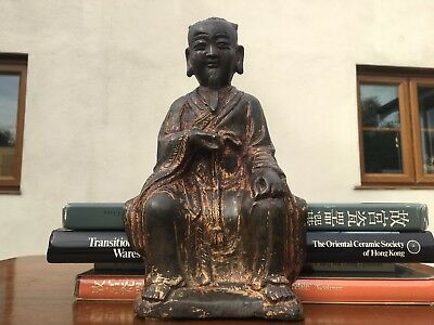 Superb Chinese Ming Dynasty Gilt Bronze Zhenwu Buddha Daoist Figure