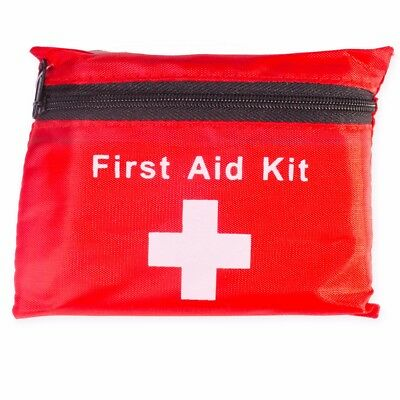 38Pc EMERGENCY FIRST AID KIT 1st Medical Pouch Home Car Compact Bag Camping