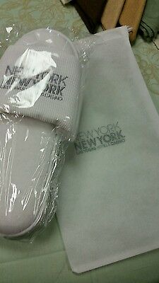 Castello NEW YORK NEW YORK Hotel White Grid Pattern Luxury  Slippers