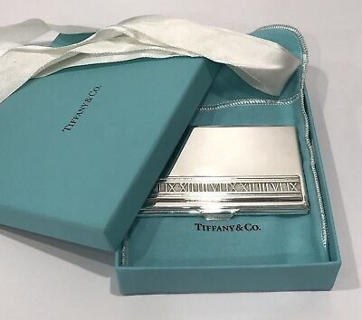 meet 58945 c7cb6 RARE! TIFFANY AND Co. Sterling Silver .925 2004 Atlas Business Card Case  Holder