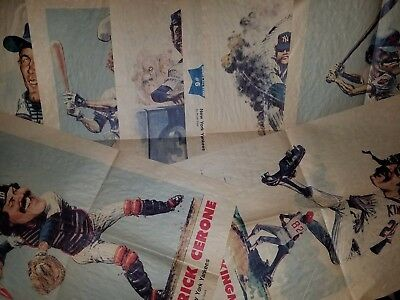 Vintage early 1980s lot 8 New York Daily News cartoons Yankees Mets Bruce Stark