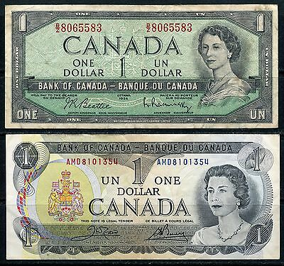 Canada $1 Notes Series 1954, 1973