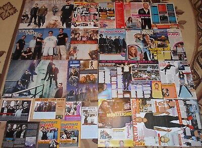 LINKIN PARK  Chester Bennington - Magazine Posters Clippings BIG Collection