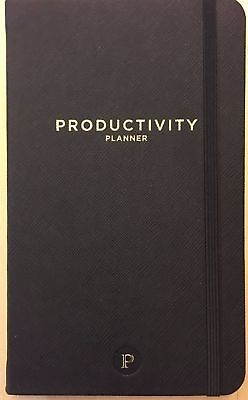 Productivity Planner Black To-Do List Daily/Monthly Review