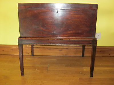 Very Large George Iii Cellarette/silver Chest Free Delivery Option