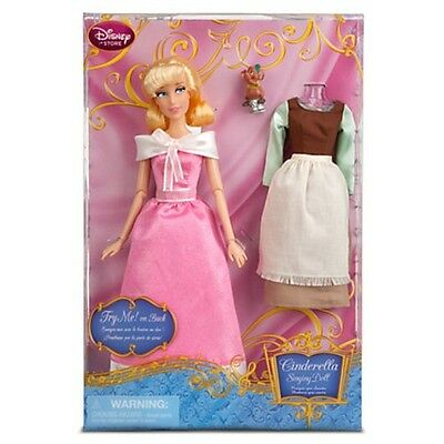Disney Store Cinderella Singing Doll and Costume Set EXCLUSIVE Doll NEW
