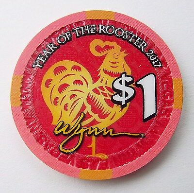Year Of The Rooster / Wynn Casino Chip / Las Vegas,nv