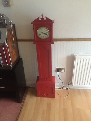 Granddaughter wind up clock  ( stunning red )fully working !!!