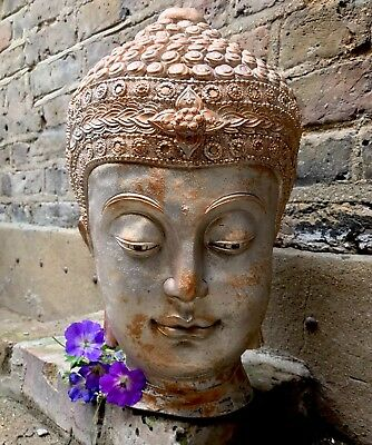 Very Large Beautifully Detailed Stone Buddhas Head Statue. (21kg) From Sius