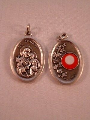 St Joseph ~ Medal with Relic ~ Pack of Two