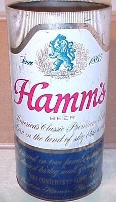 "HAMMS BEER TRASH CAN 19"" TALL, 9"" WIDE USED CONDITION LOOK CLOSELY. 6 lb. BOXED"