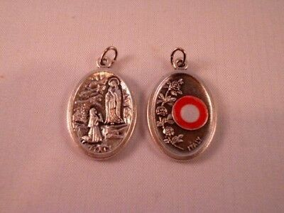 Our Lady of Lourdes ~ Medal with Relic ~ Pack of Two