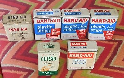 vintage Band-Aid Curad tin lot