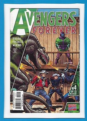 Avengers: Forever #4_March 1999_Vf/nm_Kang The Conqueror_Kid Colt_Rawhide Kid!