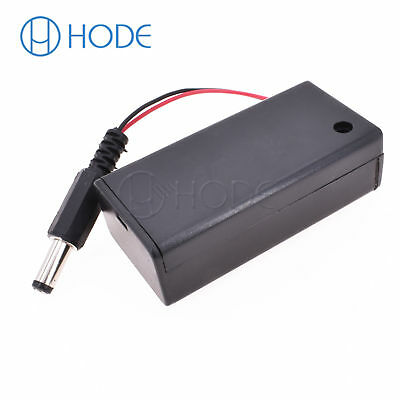 9V Volt PP3 Battery Holder Box DC Case With Wire Lead ON//OFF Switch Cover  TWUK