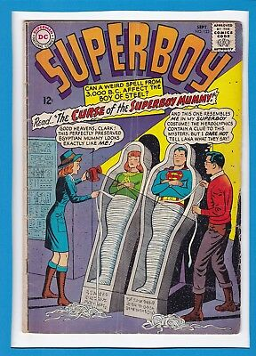 """Superboy #123_September 1965_Very Good_""""the Curse Of The Superboy Mummy""""!"""