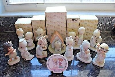Lot of (17) VINTAGE Precious Moments Figurines Some w/ Original Boxes EXCELLENT!
