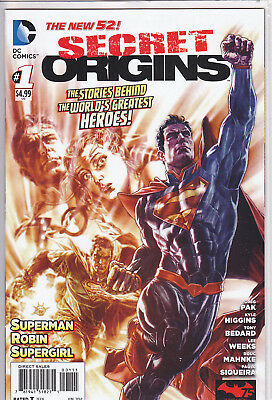 Secret Origins #1 The New 52 DC Comics Superman / Robin / Supergirl
