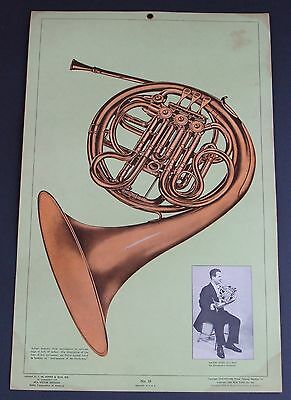 French Horn 1954 Cardboard Poster Mason Jones The Philadelphia Orchestra