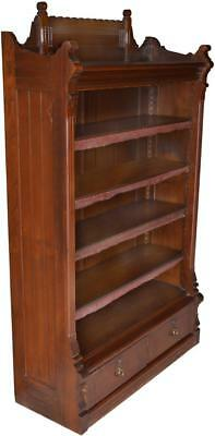 17032 Eastlake Walnut Bookcase with Drawers