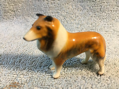 Miniature Vintage bone china COLLIE Dog Figurine